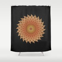 dahlia Shower Curtains featuring Dahlia by Deborah Janke