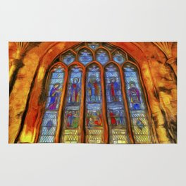 Stained Glass Window Van Gogh Rug