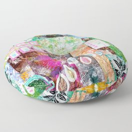 Nature collage Floor Pillow