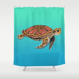 Sea Turtle Totem Shower Curtain