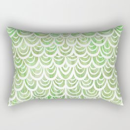 Watercolor Mermaid Peridot Rectangular Pillow