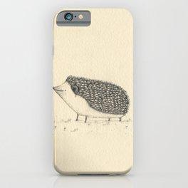 Monochrome Hedgehog iPhone Case