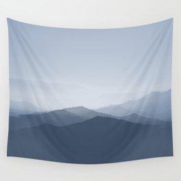 hazy morning blues Wall Tapestry