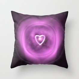 Love Is A Particle Throw Pillow