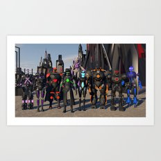Where  is  Your  Squad? Art Print