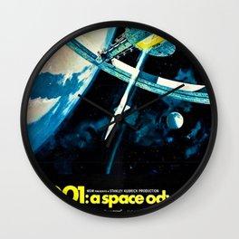 2001 A Space Odyssey 1968 American Lobby Broadside Vintage Film Poster Wall Clock
