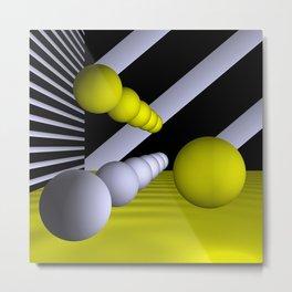 3D-geometry -9- Metal Print