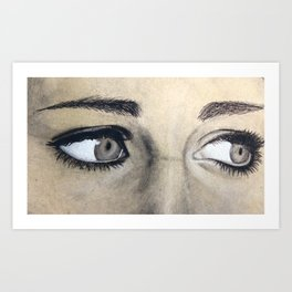 Charcoal drawing Art Print