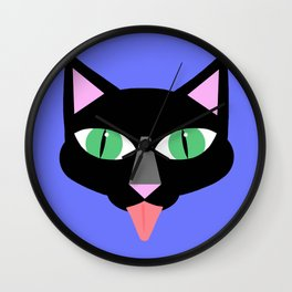 Norman Reedus's black cat Wall Clock