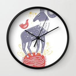 Whimsical Ram Mountain Goat Art Wall Clock