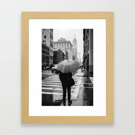 Rainy New York VIII Framed Art Print