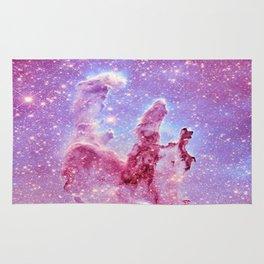 Galaxy nebula : Pillars of Creation lavender mauve periwinkle Rug