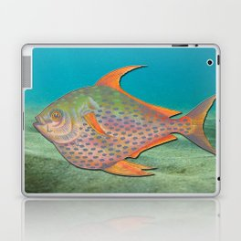 Vintage sketch of a colourful fish Laptop & iPad Skin