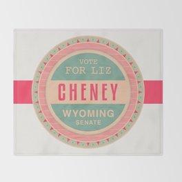Liz Cheney For Senate Throw Blanket