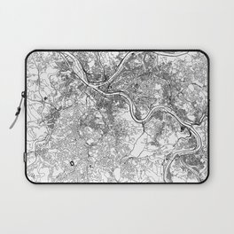 Pittsburgh White Map Laptop Sleeve