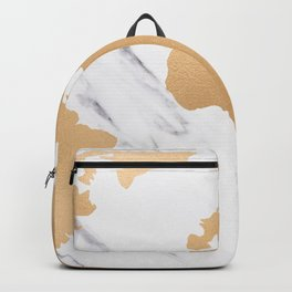 Marble World Map Copper Bronze Backpack
