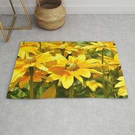 Yellow flowers 042 Rug