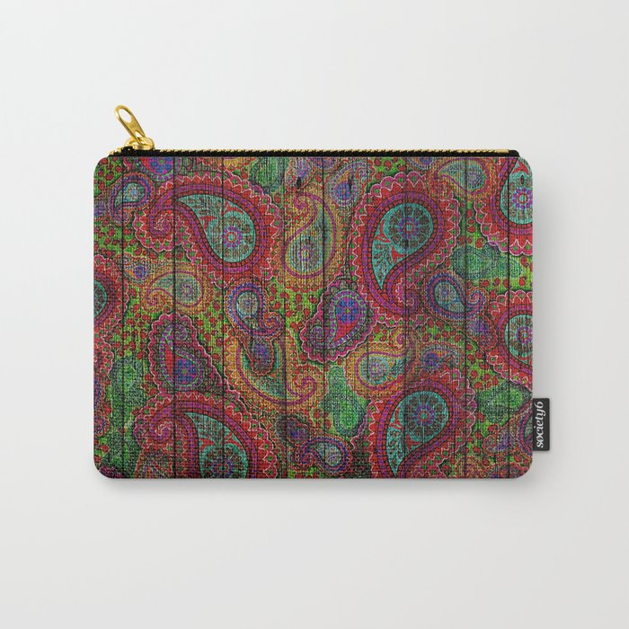 Kashmir on Wood 04 Carry-All Pouch