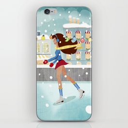 Ice Skating Girl iPhone Skin