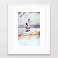 skate Framed Art Prints featuring Skate by Nuez Rubí