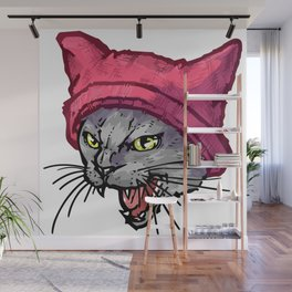 The Cat in the Hat (Russian Blue) Wall Mural