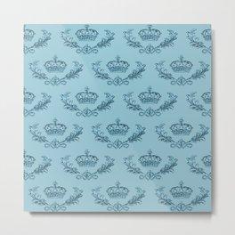Noblesse Oblige - Georgian Blue Metal Print