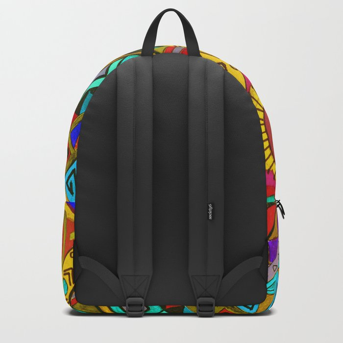 An abstract textured pattern in Oriental style 2 . Backpack