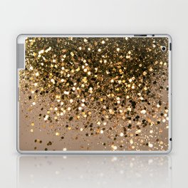 Sparkling Gold Brown Glitter Glam #1 (Faux Glitter) #shiny #decor #art #society6 Laptop & iPad Skin