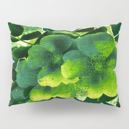 green floral Pillow Sham
