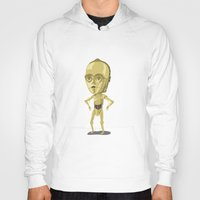 c3po Hoodies featuring C3PO by Rod Perich