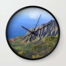 Kalalau Valley Wall Clock