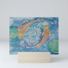 Koi Pond Batik Mini Art Print