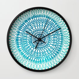 Radiate in Teal + Emerald Wall Clock