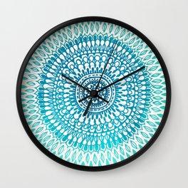Radiate in Teal + Emerald Wall Clock