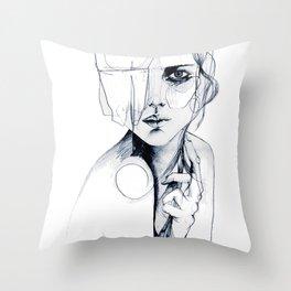 Sketch V Throw Pillow