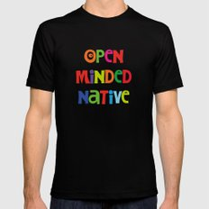 Open minded native Mens Fitted Tee Black MEDIUM