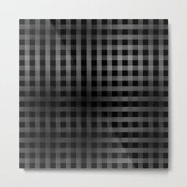 Vertical and Horizontal stripes Metal Print