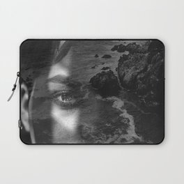 Portrait rock black white Laptop Sleeve