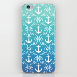 Nautical Knots Ombre iPhone Skin