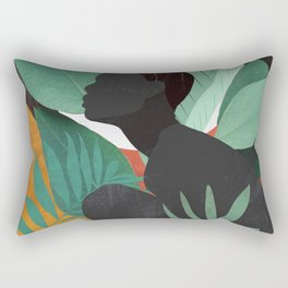 Tropical Girl 11 Rectangular Pillow