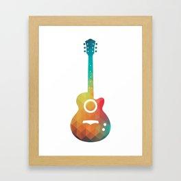 Rainbow electric guitar Framed Art Print