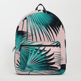 Fan Palm Leaves Paradise #4 #tropical #decor #art #society6 Backpack