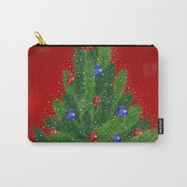 Christmas tree with background Carry-All Pouch