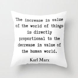 21    Karl Marx Quotes   190817 Throw Pillow