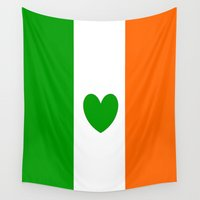 irish Wall Tapestries featuring IRISH LOVE by shannon's art space