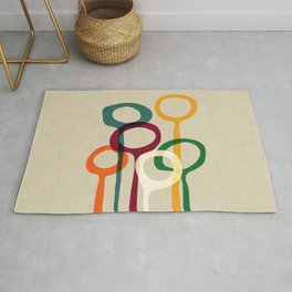 Blowing bubbles Rug