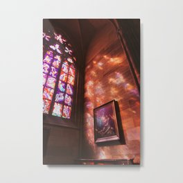 Church Stained Glass Metal Print