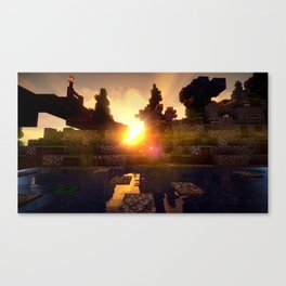 M I N E C R A F T Shaders Canvas Print