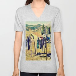 Laundry Day On The Farm Unisex V-Neck