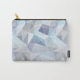 Broken glass in blue. Carry-All Pouch